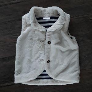 Hanna Anderson fur vest (size 110)